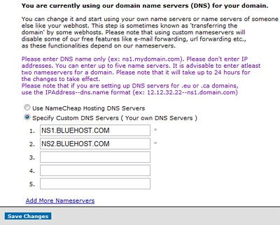 Enter DNS Addresses