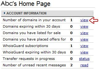 Account Home Page