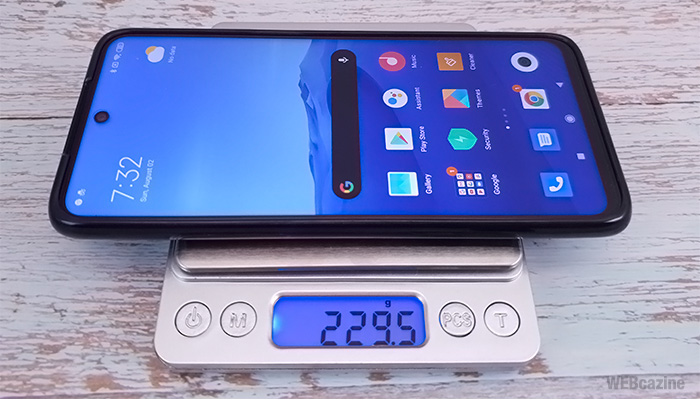 RedmiNote9S-Weight-with-Case