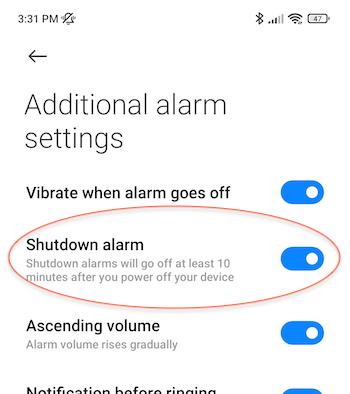 redminote10pro-shutdown-alarm-option
